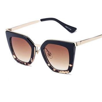 Classic Designer Vintage Single Bridge Sunglasses