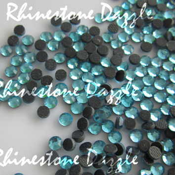 10,000pcs ss10 Hotfix Aquamarine Crystal Flat Back Rhinestones, 3mm Hotfix Aquamarine Crystal Flat Back Rhinestones, rhinestone supply