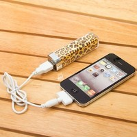 Leopard Pattern 2500mah Power Charger Battery Bank for Digital Devices
