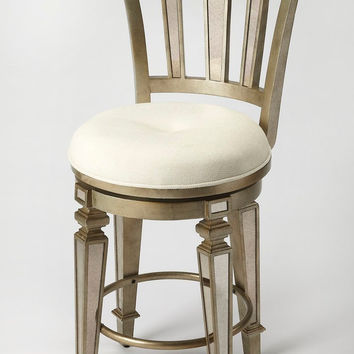 Jarnot Traditional Round Counter Stool Silver