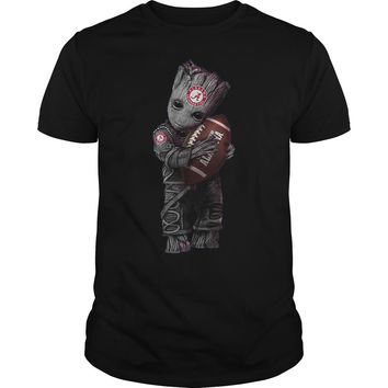 Baby Groot hug Alabama Crimson Tide shirt Premium Fitted Guys Tee