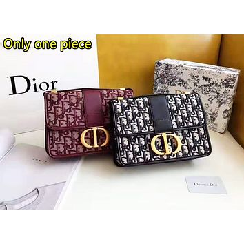 Dior Women's Fashion Casual Joker Shoulder Messenger Bag Small Square Bag