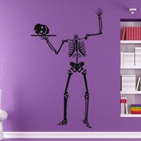 Happy Halloween Skeleton Wall Decals Vinyl Decal Sticker Kids Room Decor Home Interior Design Art Murals