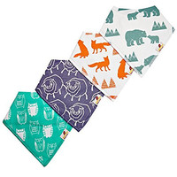 Adovely Baby Bandana Bibs Drool Girl Boy Gift Set - Cuddles