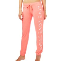 Logo Text Slim Cinch Lounge Pants - Aeropostale