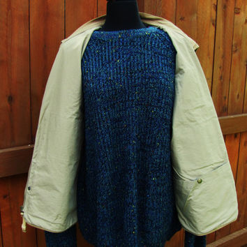 vintage khaki NAUTICA hunting camping fishing outdoorman lumberjack hipster vest. size XL 100% cotton