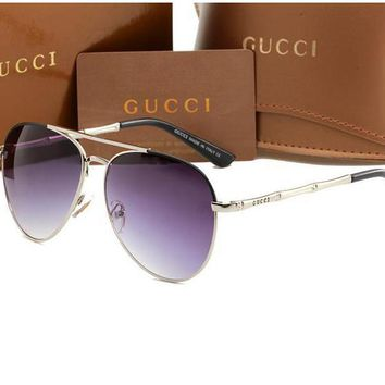 [FREE SHIPPING] GUCCI Fashion Night Vision Polarized Glasses Copper Alloy Sunglasses/Goggles