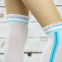 Leg Warmers knee socks ,Leg Warmers Leg warmers,Knit Lace trim,Legwarmers,women legwarmers, boot warmers, lace sock