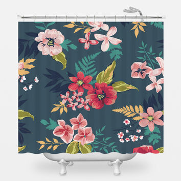 A bit Hawaiian Shower Curtain