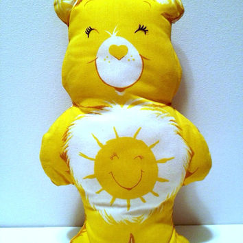 Vintage Care Bear Sunshine Bear Pillow Plush