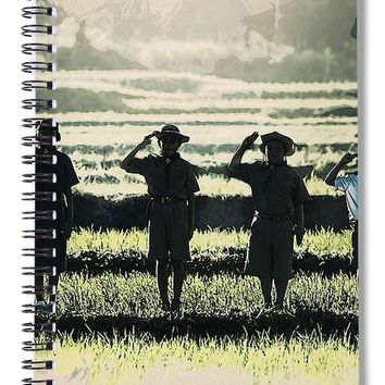 Scout Boys Of Tropics - Spiral Notebook