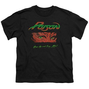 Poison Kids T-Shirt Open Up and Say Ahh Black Tee
