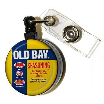 Old Bay Can / Retractable Badge Holder