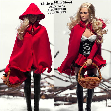 Top Quality Phicen Doll PL-48 1/6 Scale 30cm Sexy Little Red Riding Hood-Grimm's Fairy Tales Seamless Body Action Figure