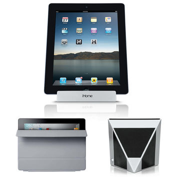 APPLE iPAD 2 16GB WiFi Black + Smart Cover Gray MD307LL/A + iHome IDM1 3PC Kit