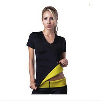 Women Hot Neoprene Body Shaper Vest Tops Shirt Slimming Tops Slim Yoga Weight Loss T-Shirt = 1933353284