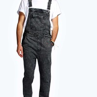 Full Length Acid Wash Dungarees