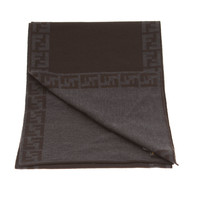 Fendi Double F Bordered Scarf