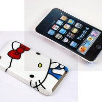 Smile Case Hello Kitty White Hard Back Cover Case for iPod Touch 4 4G iTouch 4 4G (it-HK White Back)