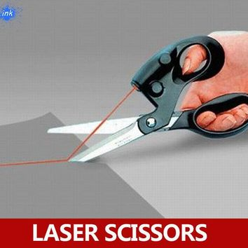 Laser guided scrapbooking sewing scissors for paper cutting , Laser Scissor easy to cut a straight line