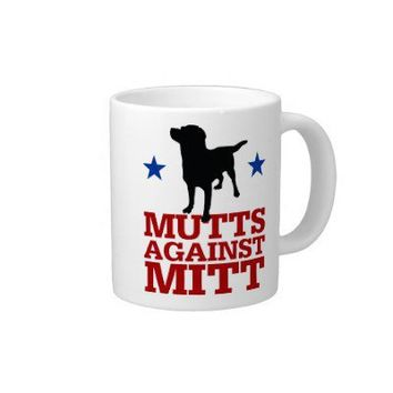 Mutts Against Mitt Extra Large Mugs from Zazzle.com