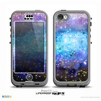 The Glowing Space Texture Skin for the iPhone 5c nüüd LifeProof Case