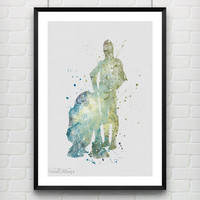 Star Wars Poster, C3PO and R2D2 Watercolor Art Print, Minimalist Watercolor Art Poster, Home Decor, Not Framed, Buy 2 Get 1 Free! [No. 10]