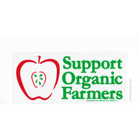 Support Organic Farmers Bumper Sticker on Sale for $2.99 at HippieShop.com