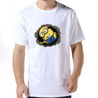 Hot Classic homewear t shirts geek Despicable Me Minon t shirt for men's