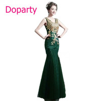 Doparty XS1 Cheap Mother of the Bride Lace Turquoise Mermaid Party long Evening 2017 New Arrival Formal Dresses Elegant Gown
