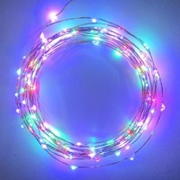 The Original Starry String LightsTM by Brightech - Multi-Colored LEDs on a Flexible Wire - 20ft LED String Light with 120 Individually Mounted LED's - Multi Colored - The Perfect String Light for Christmas and the Holiday Season