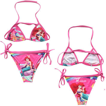 girl kid swimwear Mermaid Kids Girls Halter Tankini Swim Bathing Suit Swimwear Swimming Costume NE