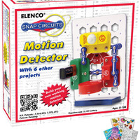 Elenco SCP-13 Snap Circuits Motion Detector Science Kit with Coloring Book