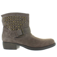 Steve Madden Outtlaww - Taupe Suede Studded Pull-On Bootie
