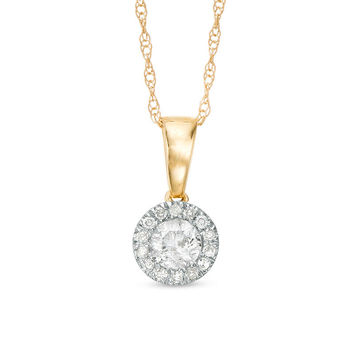 1/4 CT. T.W. Diamond Frame Pendant in 10K Gold|Piercing Pagoda