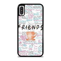 FRIENDS TV SHOW QUOTES iPhone X Case