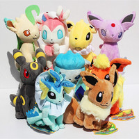 9 pcs/set Pokemon Eevee Family Plush Toys Doll Stuffed Animals