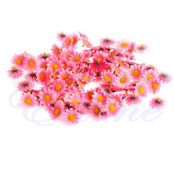 100pcs Gerbera Daisy Heads Artificial Silk Flower Wedding Party Craft Supplies