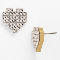 Juicy Couture 'Heart of Gold' Pixel Heart Stud Earrings