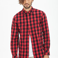 Zippered Tartan Plaid Flannel Red/Black