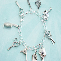 hair/salon stylist charm bracelet