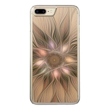 Joyful Flower Abstract Floral Fractal Art Carved iPhone 7 Plus Case