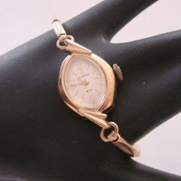 Vintage Helbros Ladies Watch  / Swiss / Gold Filled Helbros Watch Band / Jewelry / Jewellery