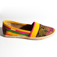 KAANAS Tulum Slip On Shoes in Banana