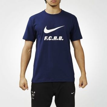 Nike F.C. Real Bristol Authentic Logo Men's T-Shirt - Midnight Navy