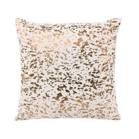 Napolean Leather Cushion Gold