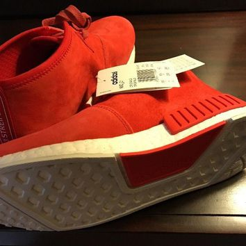 Adidas Nmd C1 Lush Red Suede Chukka Us Men's Size 7. Women's 8.