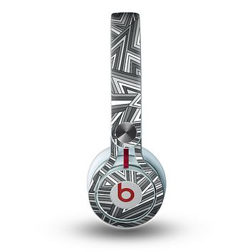 The Jagged Abstract Graytone Skin for the Beats by Dre Mixr Headphones