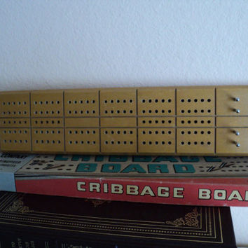 Cribbage Board Milton Bradley 1960s Cribbage Board Game with Good Housekeeping Seal of Approval