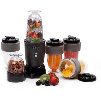 Elite Cuisine 17-Piece Personal Drink Blender with  (4) 16-oz Travel-Cups